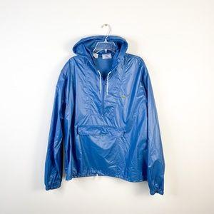 IZOD x Lacoste blue windbreaker pullover jacket XL